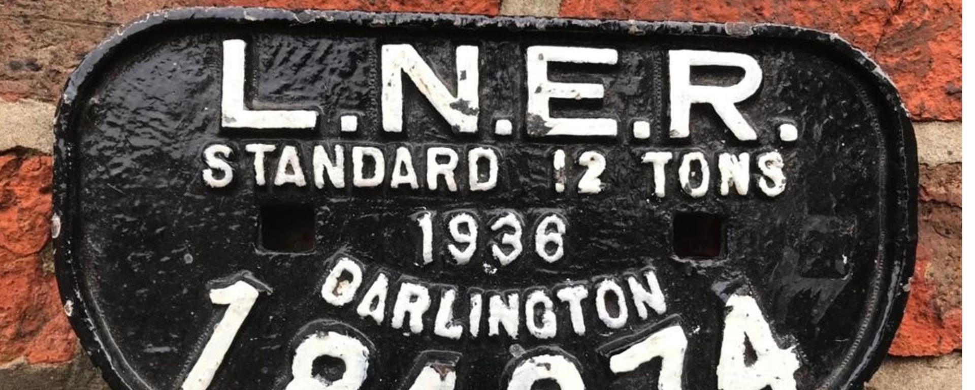 Stockton And Darlington Railway Sign