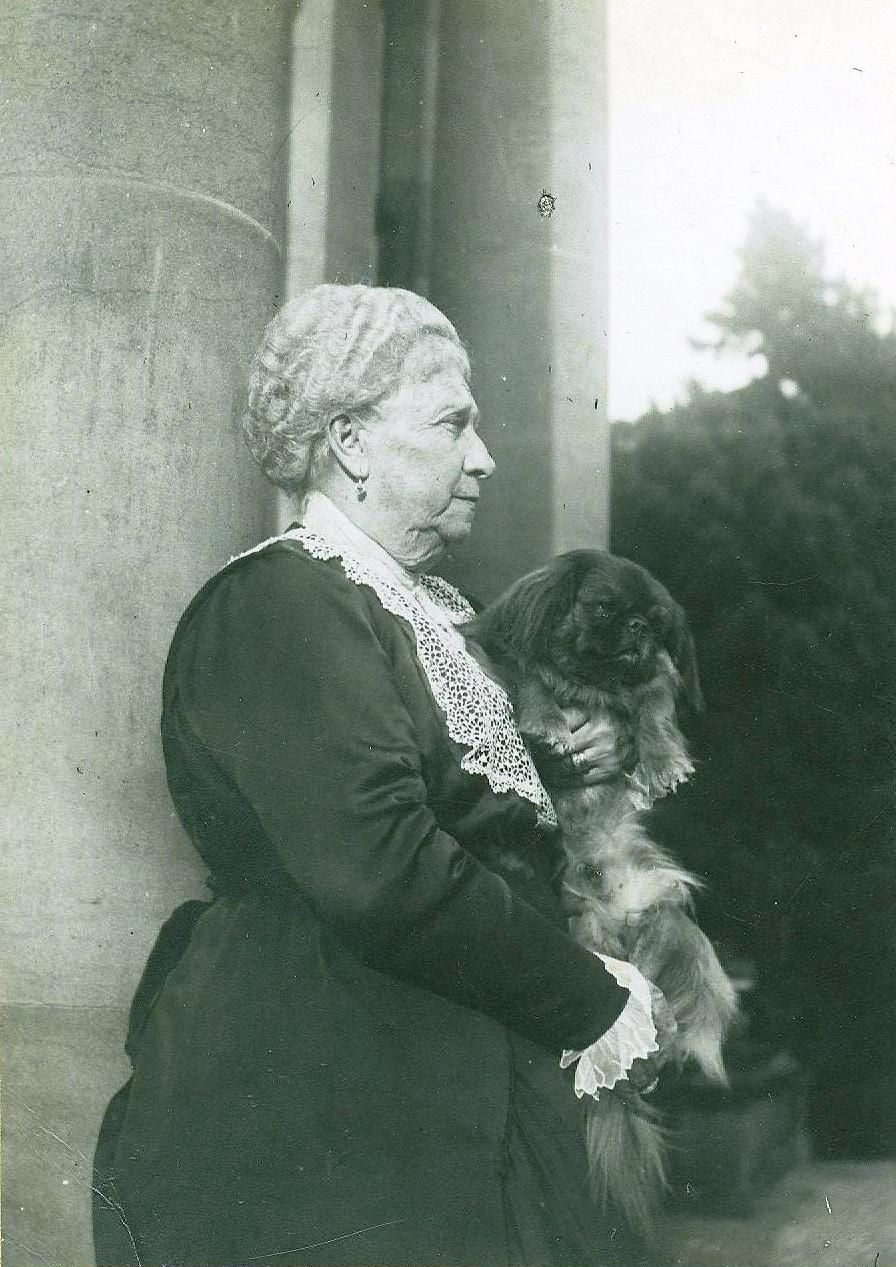 A black and white photograph of Lady Ropner