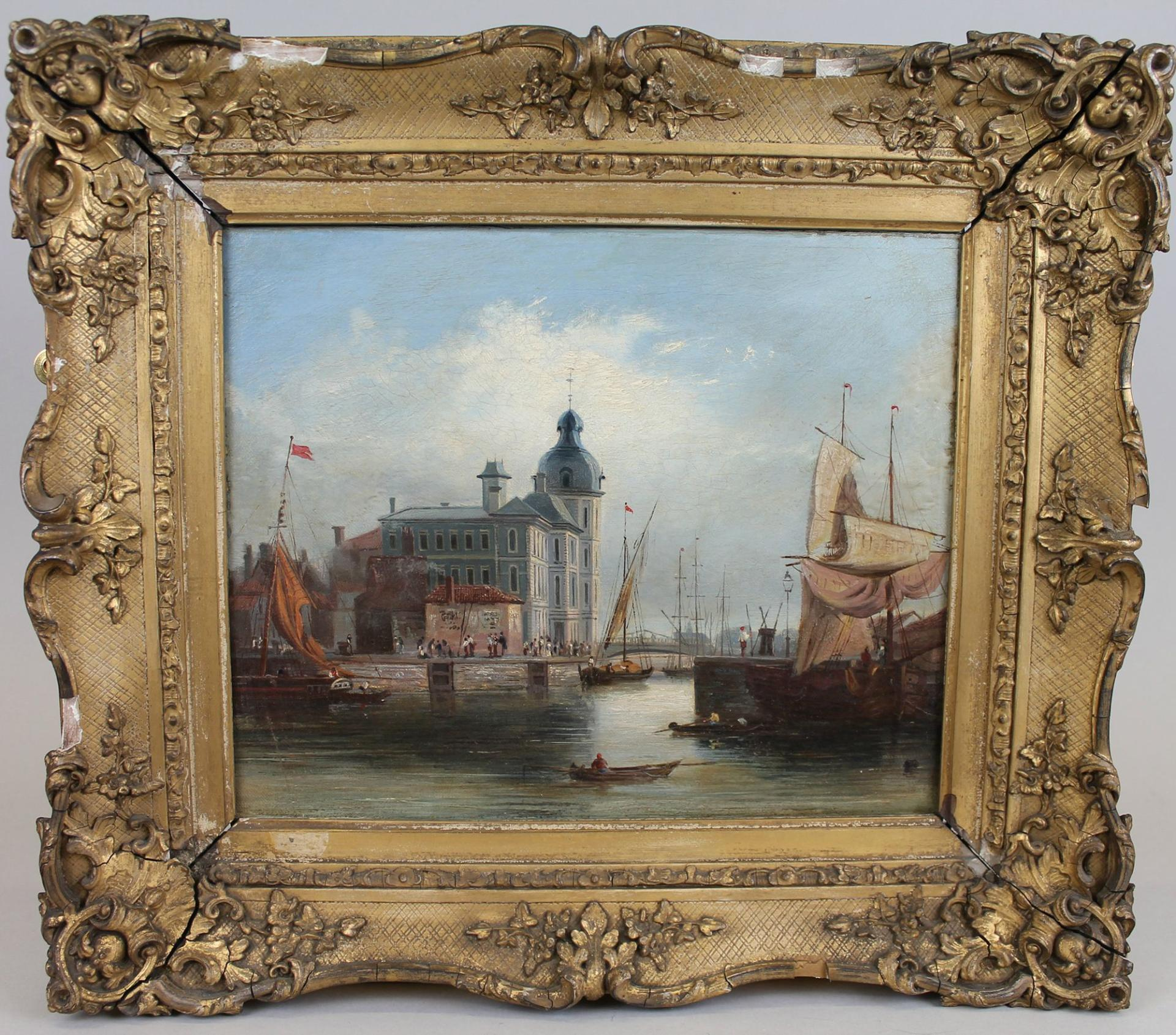 Painting called Dutch Canal Artwork