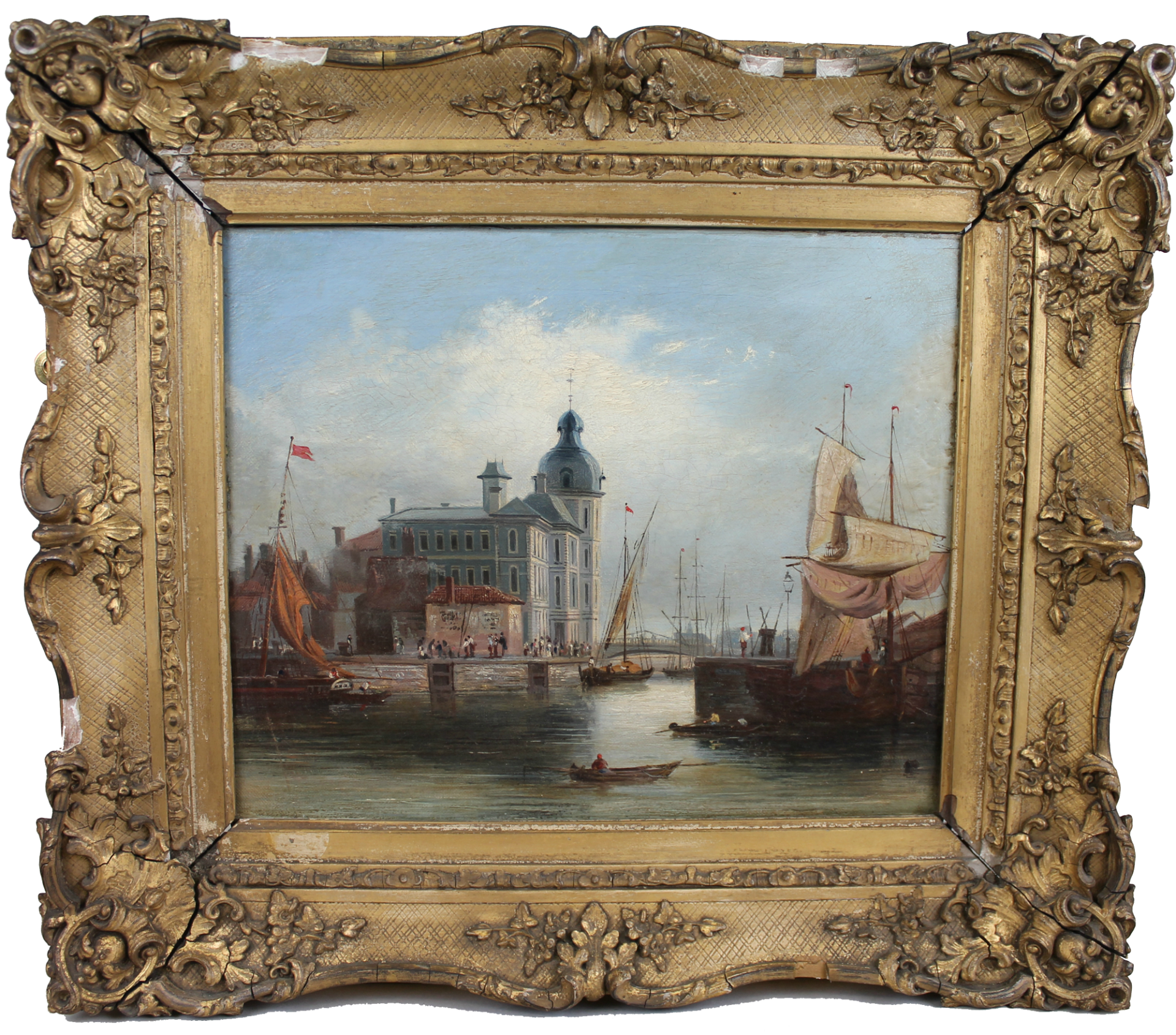 Painting called Dutch Canal