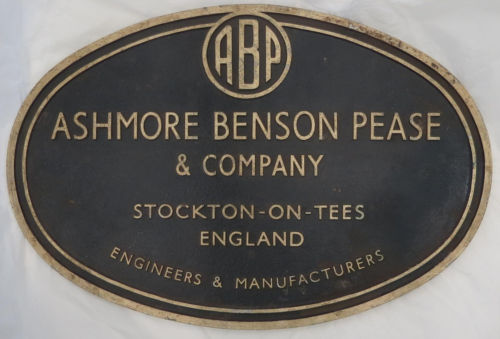 Ashmore Benson Pease Plaque