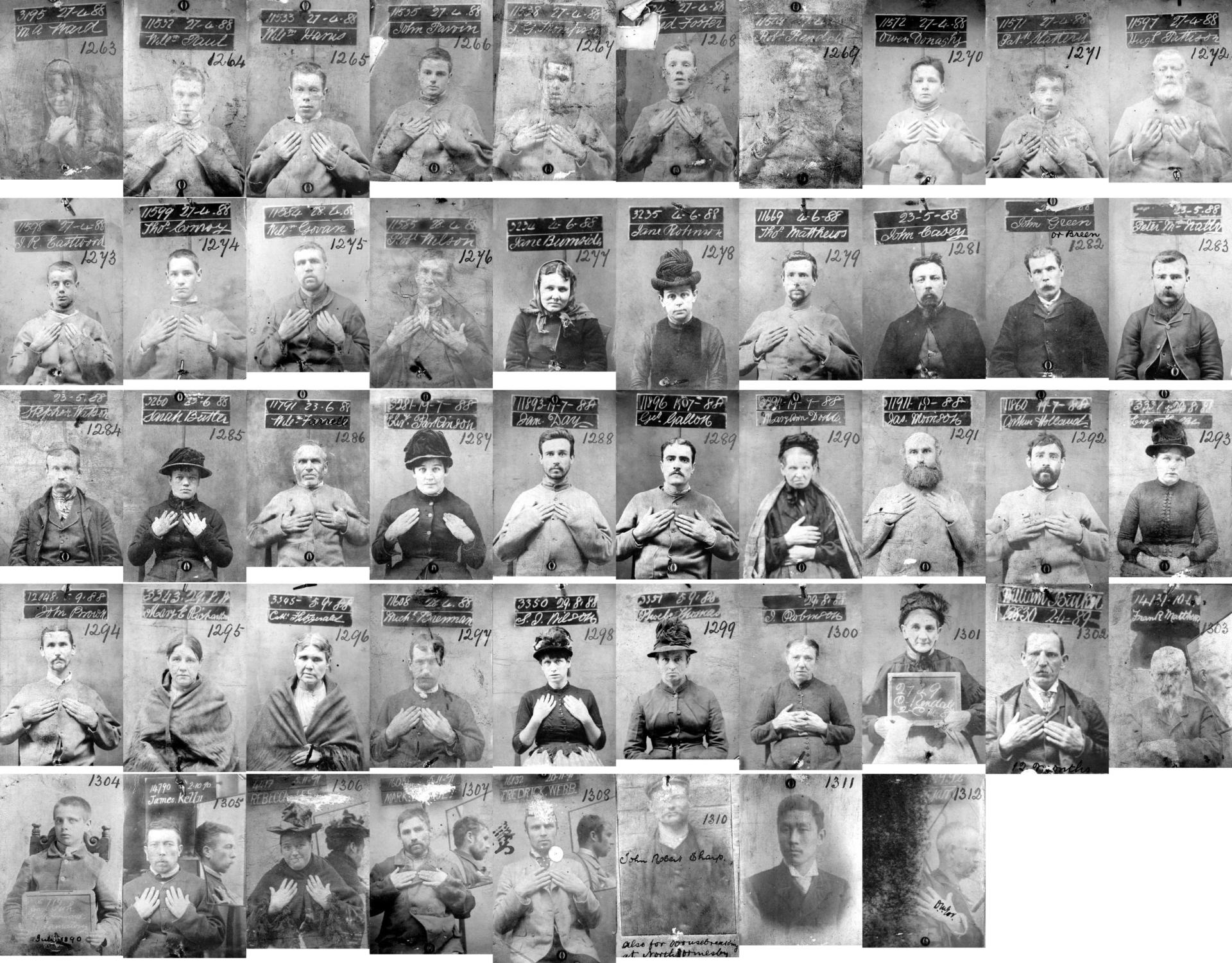 An image of the Victorian Mug Shot Book