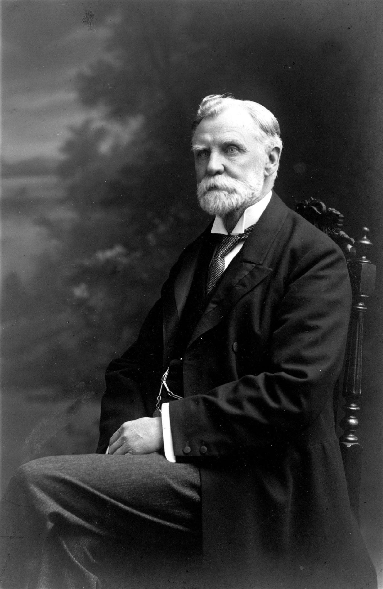 Black and white photograph of Robert Ropner