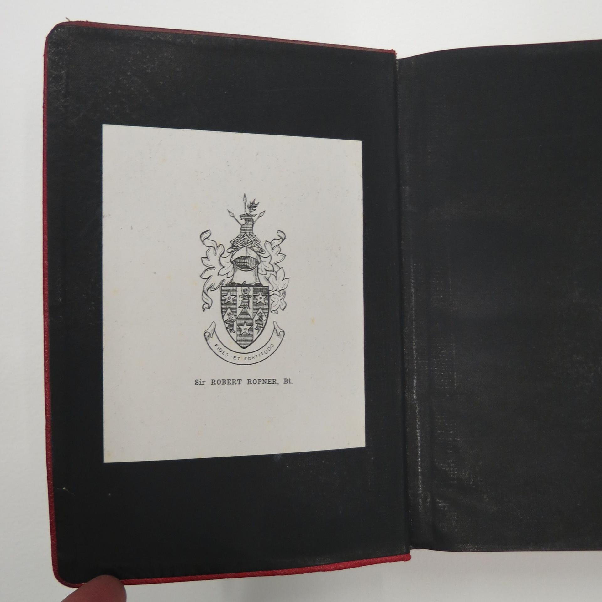 Ropner Book Plate