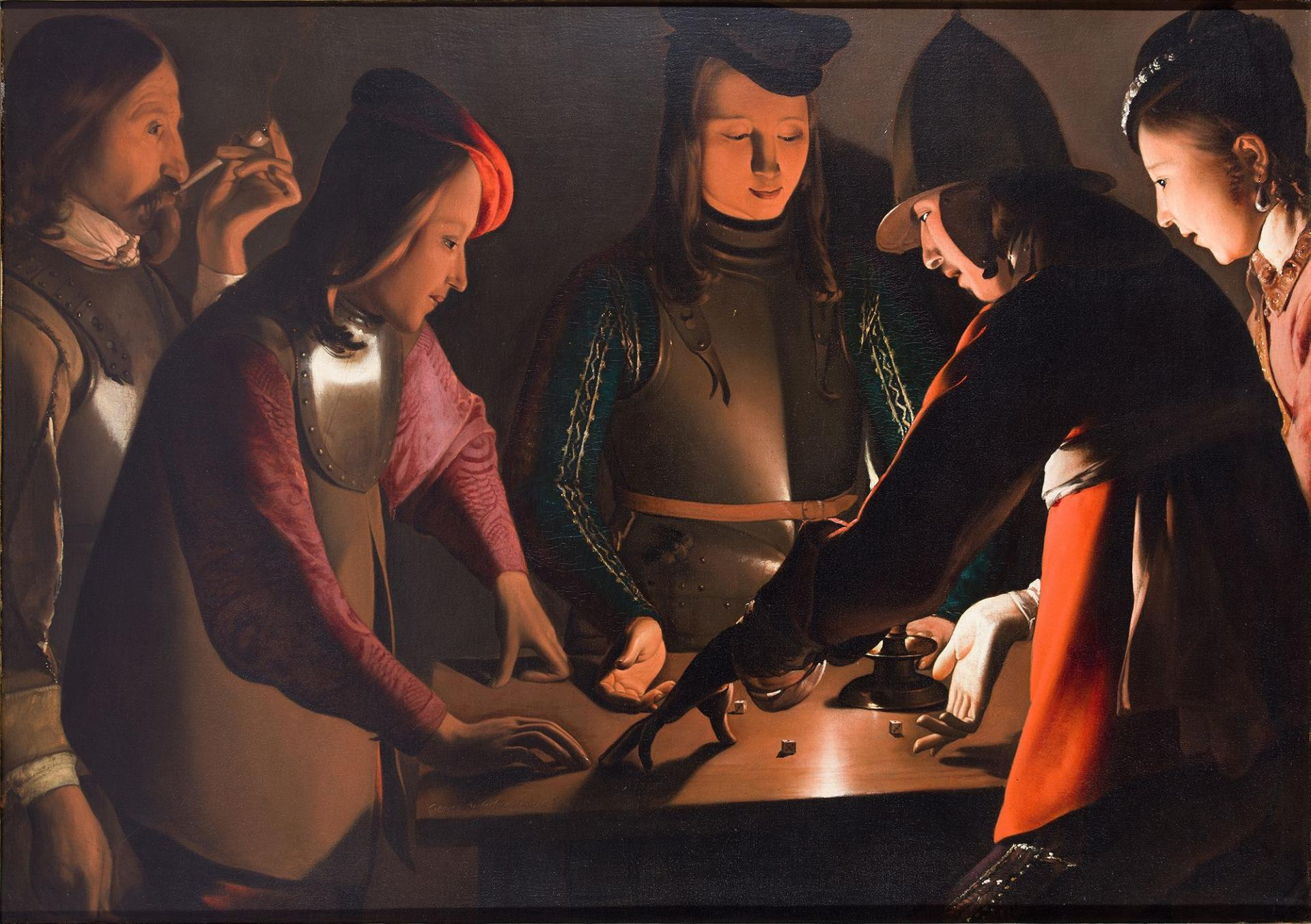 The Dice Players painting