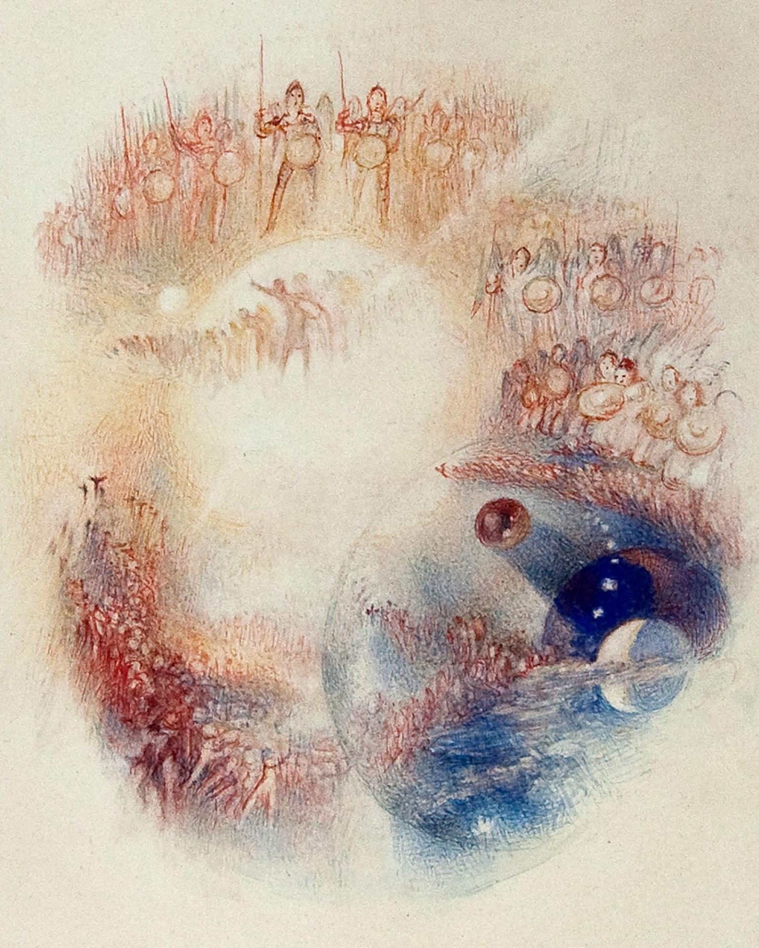 Watercolour by Turner called the Mustering of the Warrior Angels