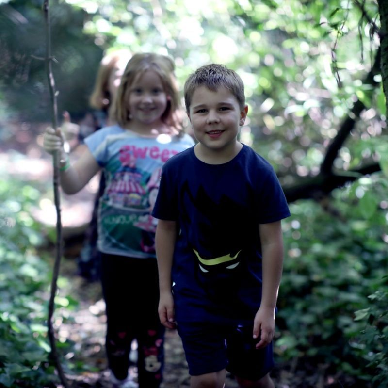 Young Children In The Woodland