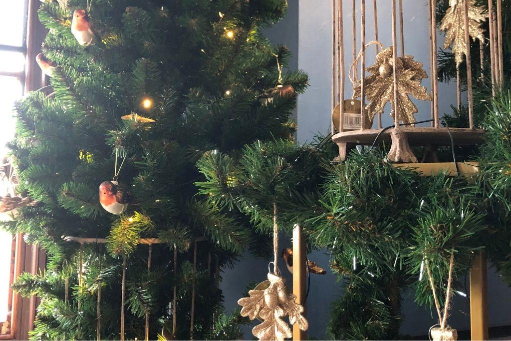 Ceramic Robins Hanging On A Tree