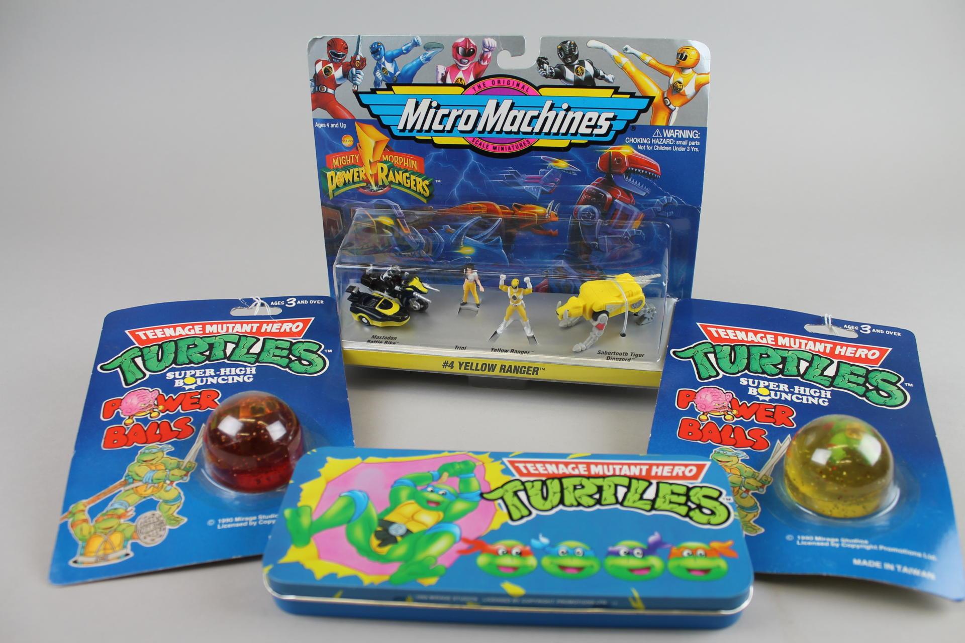 Power Rangers And Teenage Mutant Hero Turtles toys