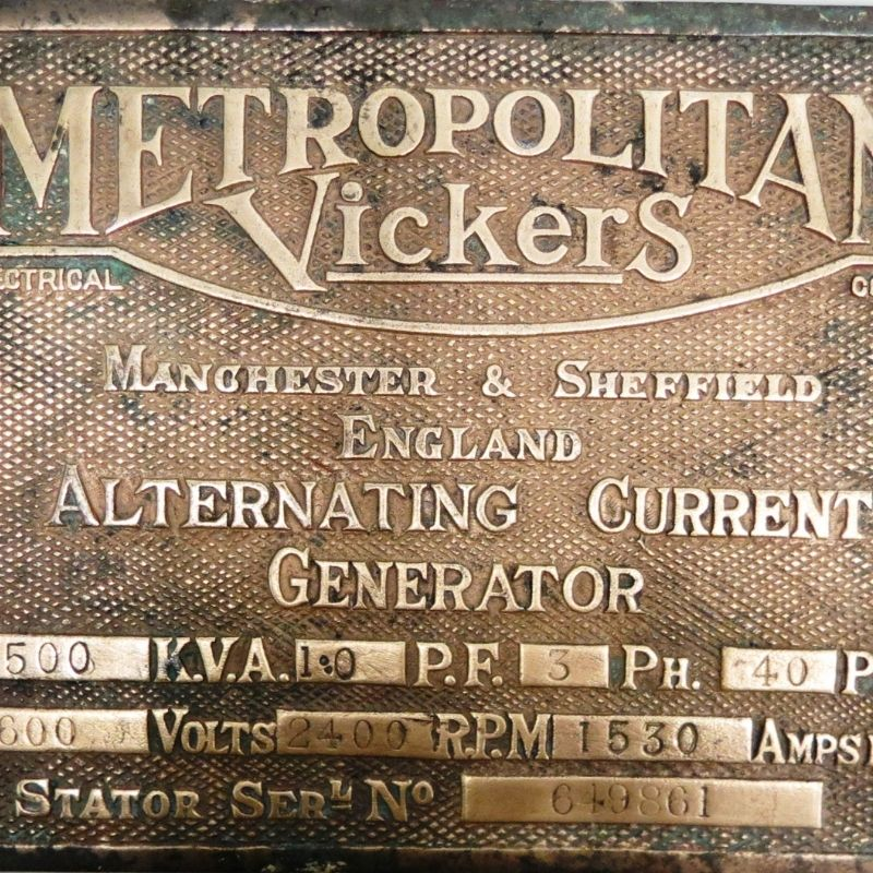 Metal Plaque From Billingham Power Station