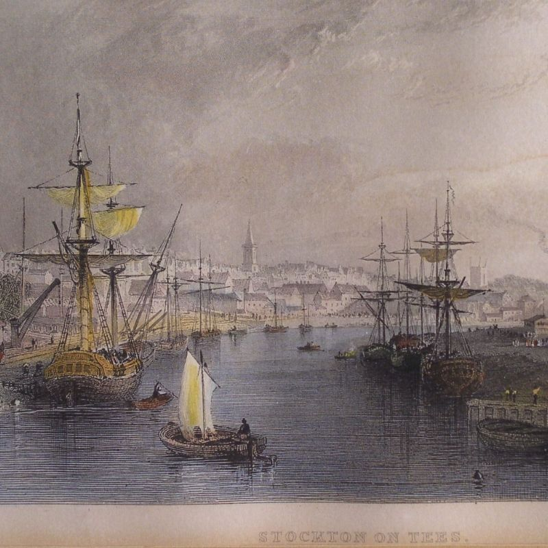 Painting Of Sail Ships In Stockton On Tees
