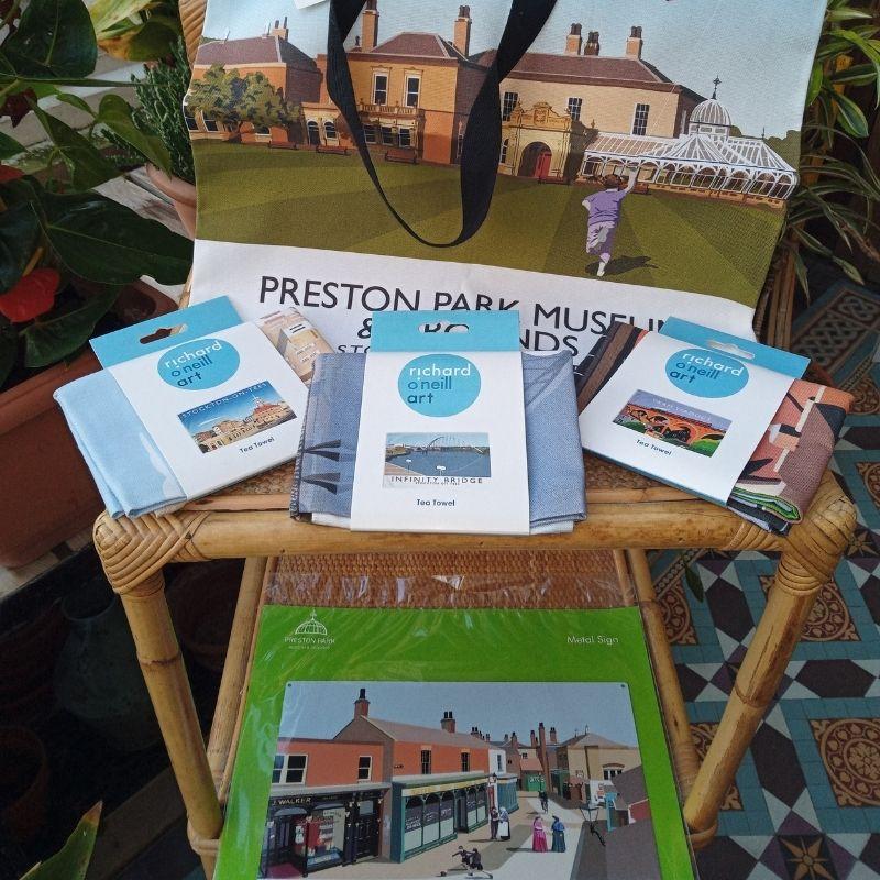 Preston Park Tea Towel And Tote Bag