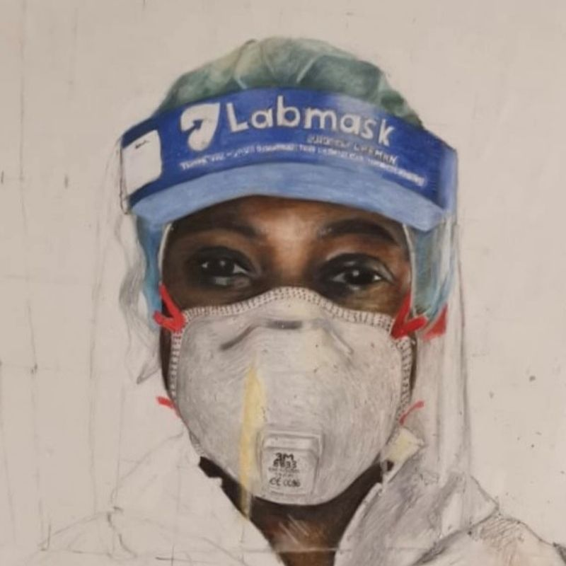 Portrait of an NHS Worker During Covid 19 Pandemic