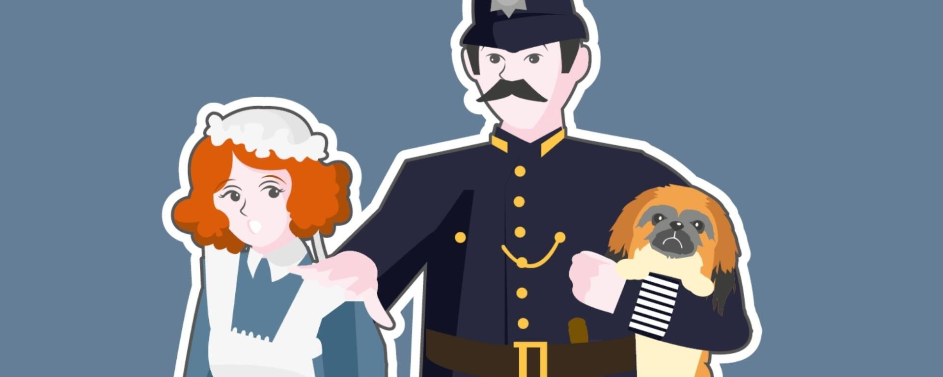 Lizzie The Maid And Victorian Policeman Need Your Help To Find The Missing Keys