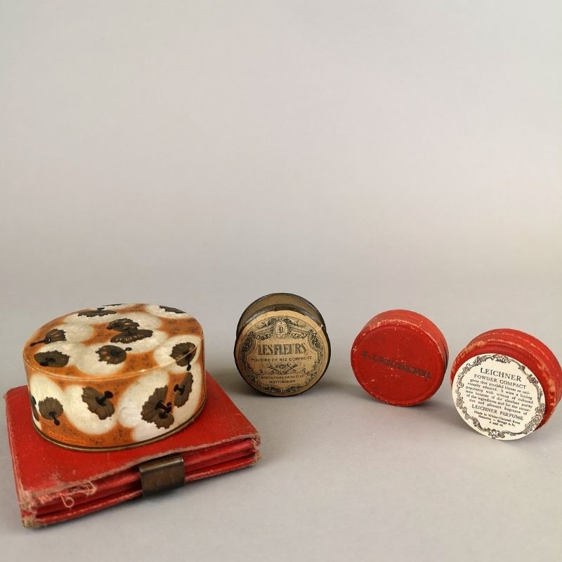 Selection Of Compact Powders From The Collection At Preston Park Museum