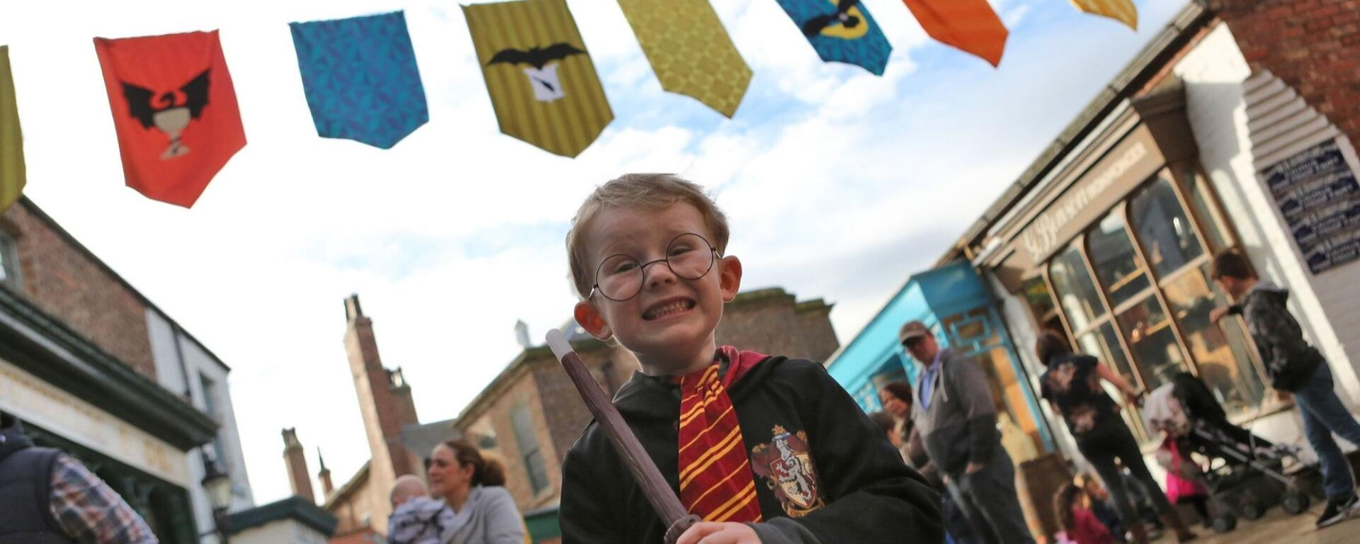 Young Visitor Dressed As A Wizard At Preston Park Museum